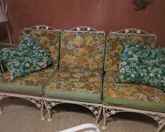 3 cushion patio sofa, part of 3 piece set