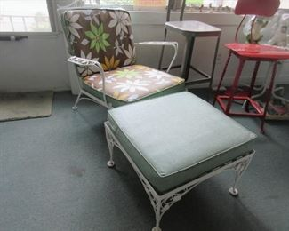 chair and ottoman, part of 3 piece set