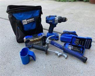 Kobalt 24v Brushless Drill and Accessories