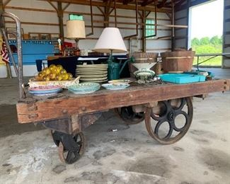 Antique Handcart from Traverse City Railroad