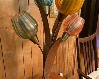 Mid century modern tulip lamp $150