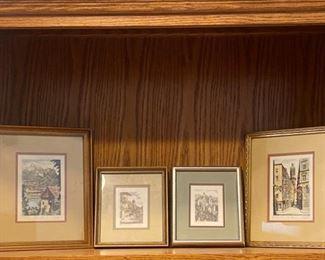 4 Original Reifer Paintings