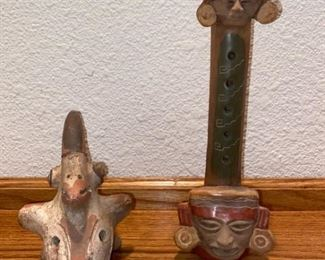 Anthropomorphic 5 Figure Ocarina Whistle Flute