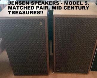 SCARCE JENSEN MODEL 5 SPEAKERS. THE PAIR.