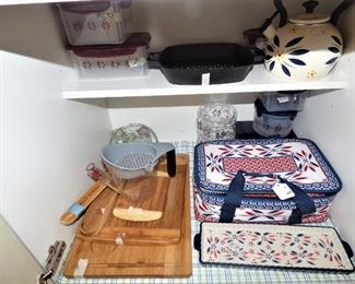 Temp-tations Items, Bamboo cutting boards, etc