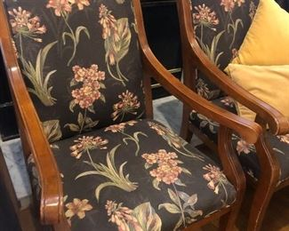 Gorgeous pair of wooden chairs from High Point