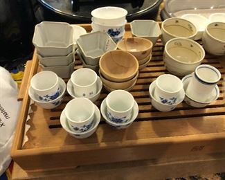 tea cups and bowls