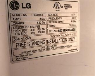 LG stainless refrigerator