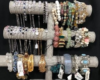 costume jewelry - crystals, beads