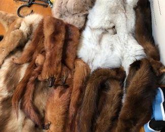 fur pelts