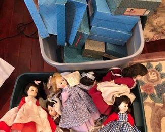madame Alexander dolls & boxes