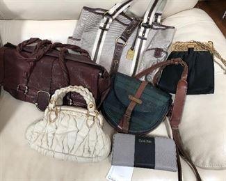 Miu Miu handbag, vintage Polo Ralph Lauren black watch cross body