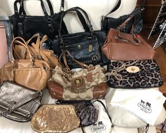 Coach bags - many with tags