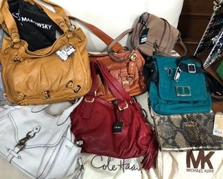 Cole Haan, Michael Kors, many new with tags