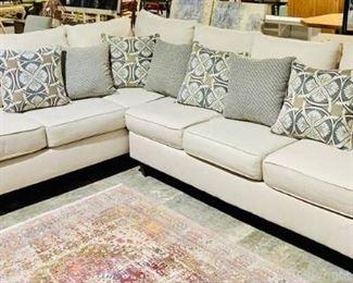 Elegant Creamy White Sectional Sofa
