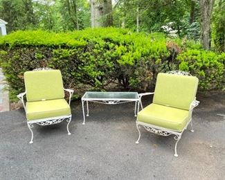 Vintage 3Piece Patio Set with Reversible Cushions