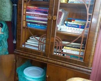 Collectors books. China Cabinet.