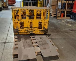 Forklift attachment for floor pick up - 30C-PS-05A