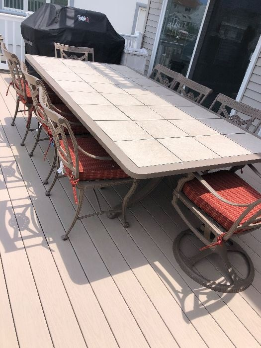 FORTUNOFF Cast Iron Table set  $2000