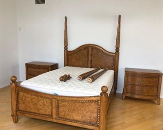 Bed set - 5 pieces  - $2000 Queen Bed Frame, 2 Tallboy Dressers & 2 Nightstands (Mattress not included)   Mattress & Box Spring $200