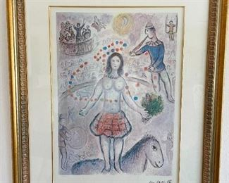 Marc Chagall limited numbered interpretive print