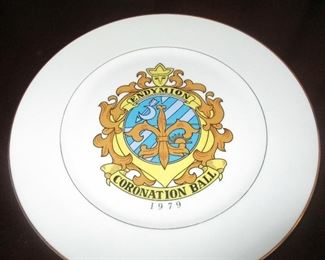 New Orleans Mardi Gras Endymion Coronation Ball plate from 1979
