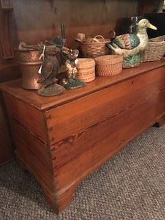 1800s pine blanket chest
