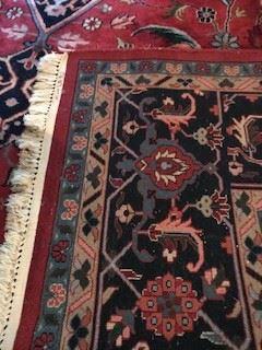 Back of 9 x 12 rug