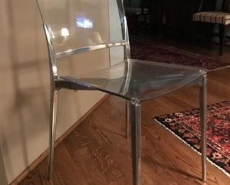 Four Lucite Chairs