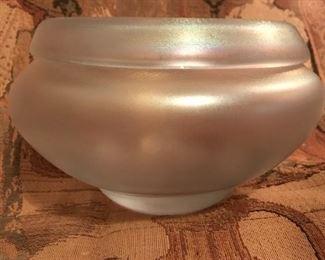 Signed Fostoria Bowl