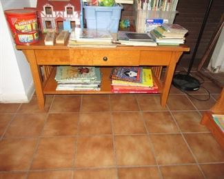 sasseville coffee table with books