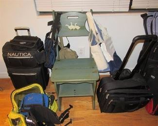 sasseville suitcases and chair