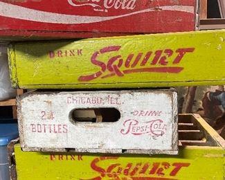Soda Crates, Pepsi, Squirt, Coca Cola