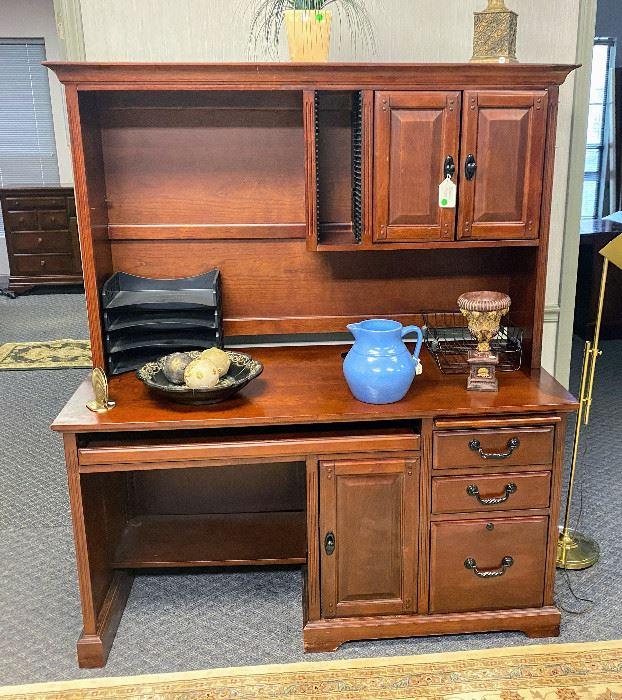 Mahogany desk and Upper Storage