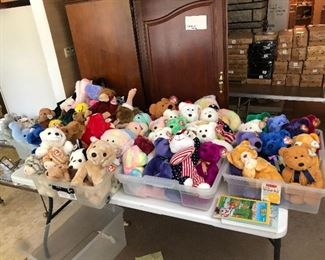 Large beany beanie buddy buddies collection. They have all been stored in tissue paper individual wrapped fir years. Mint condition. Bears, dogs, cats, zoo animals, birds, dinosaurs, lizards, and more!
