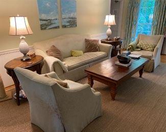 Sofa and Swivel Chairs