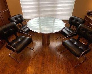 """Brueton Table $2000 42.5"""" wide 28.75"""" tall"""