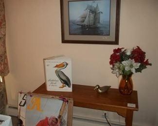 sofa table, ship art