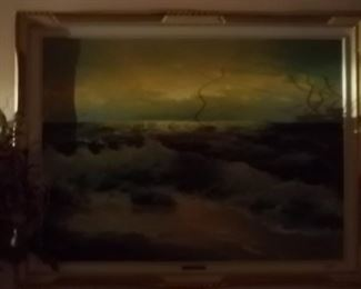 oil on canvas of the sea