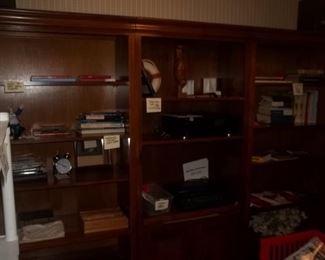 three more bookcases