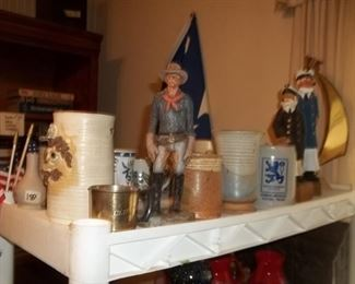 pottery and nautical items