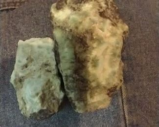 Larimar nuggets and jewelry might be found here,