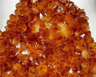 Golden orange Citrine quartz crystals might be found,
