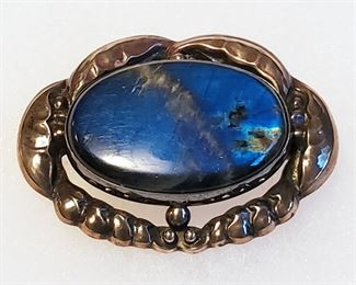 Rare early Georg Jensen Labradorite brooch