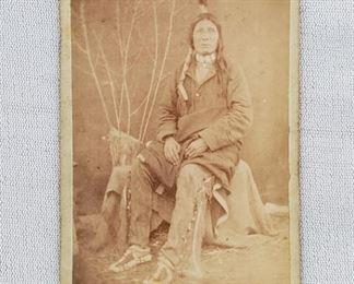 RARE 1870s CDV Fast Bear Brule Sioux by WR Cross