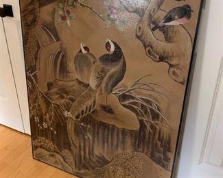 asian bird artwork $125