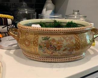 chinese fishbowl planter $50