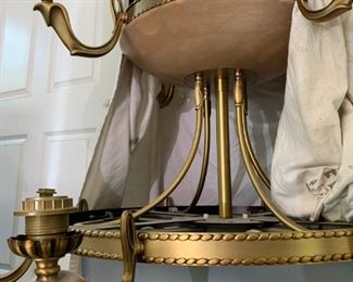 alabaster chandelier $500