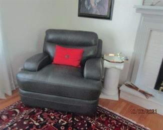 Matching leather chair