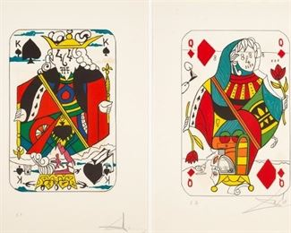 (2) Salvador Dali (Spanish, 1904-1989) 'Playing Cards'